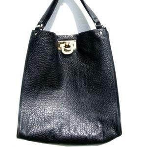 DKNY Bag Black Saffiano Croc Leather Tote Shopper